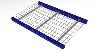 wire mesh decking as warehouse rack decking