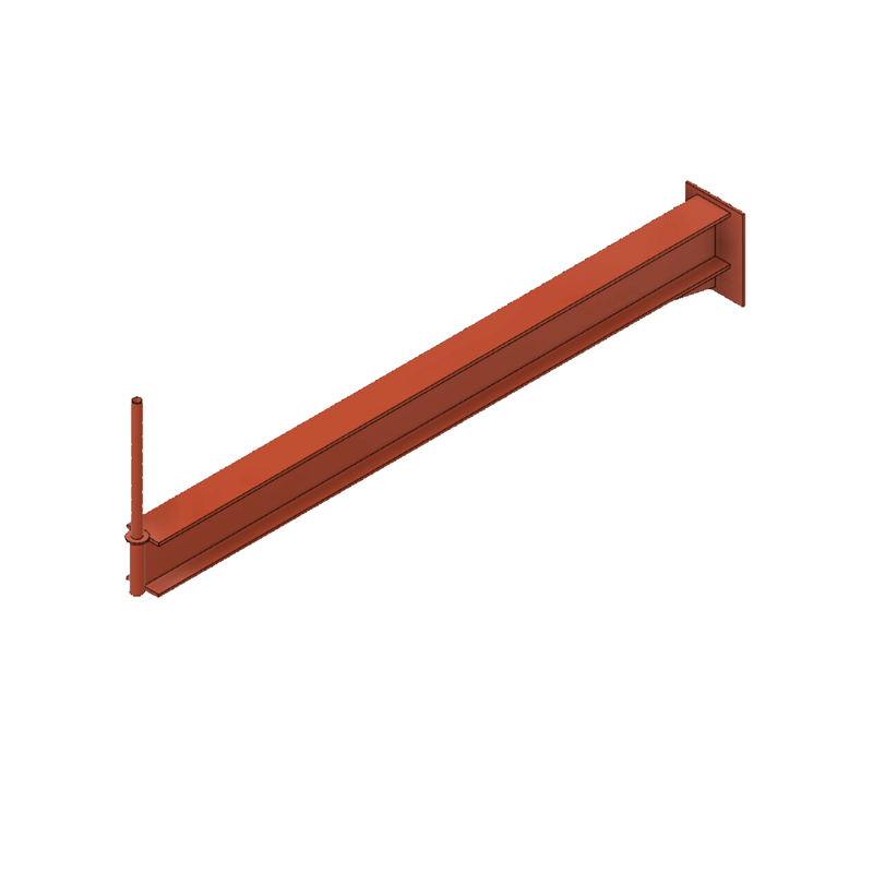 Cantilever stop pin
